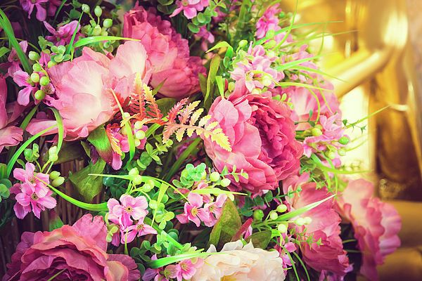 Beautiful Rose Pink Flowers Photograph by Nadezhda Tikhaia   #NadezhdaTikhaiaFineArtPhotography #ArtForHome #HomeDecor #Flowers #InteriorDesign #FineArtPrints