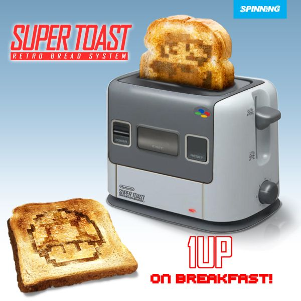 Super NES Toaster (14,99$): each and every piece of bread you magically turn into toast in it will, without a doubt, have a Mario character embedded into it. http://www.babypron.com/baby-store