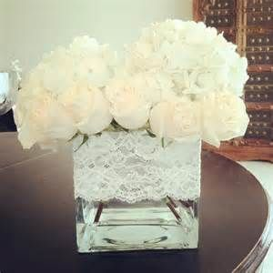 Pretty centerpieces, I would like it even more if there was burlap behind the lace.