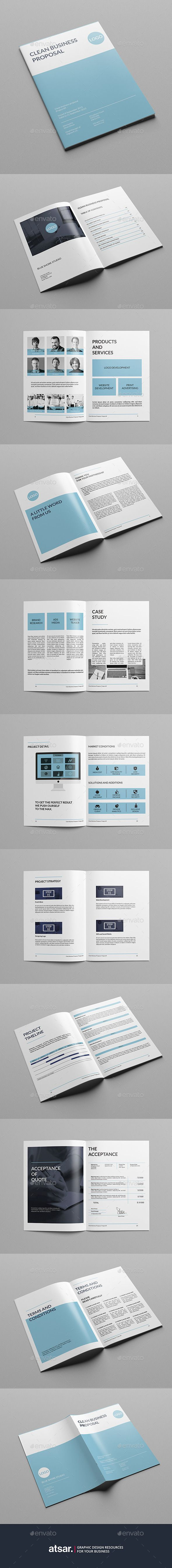 Clean Business Proposal Template #design Buy Now: http://graphicriver.net/item/clean-business-proposal/12853048?ref=ksioks