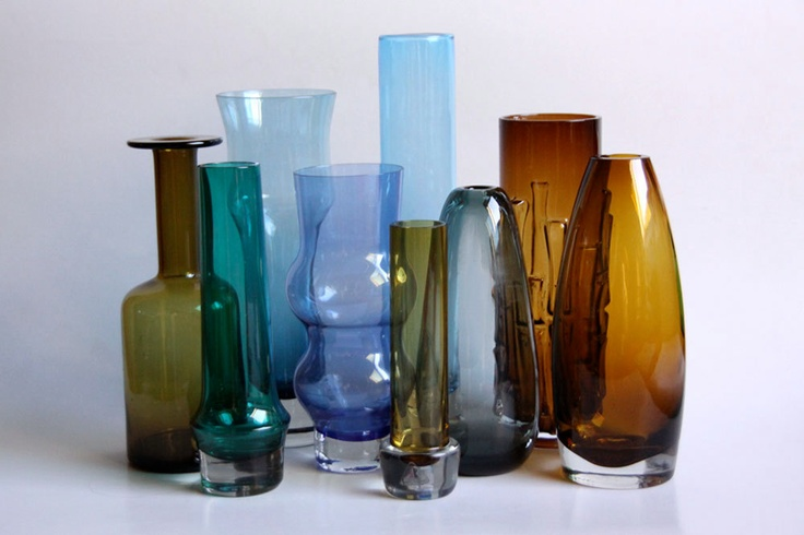 Art Glass Collection - Per Lutken, Riihimaki...     60-70s.