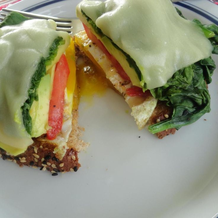 """""""What a great fresh way to start your day! The spinach, tomato and avocado create a great breakfast sandwich. Quick, easy and super tasty."""""""