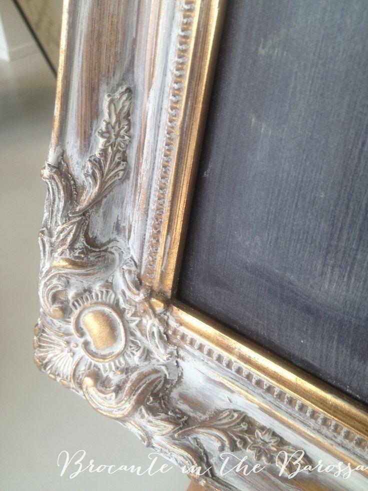 marco cuadro blanco patina dorado                                                                                                                                                                                 Más