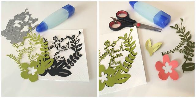 Crafting ideas from Sizzix UK: Die cutting shadows: Do what you love card