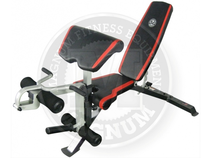 Magnum Fitness - Flat Incline Decline bench w/ attachments  Magnum Fitness has done it again with another great product. This flat / incline / decline bench is very versatile and nice and stable. At the moment, we are throwing in the preacher curl / leg extension FREE OF CHARGE!  - Includes the Flat / Incline / Decline Bench - Includes the Leg Curl and Preacher Pad for the Bench   For more info visit: http://www.gymandfitness.com.au/flat-incline-decline-bench-preacher.html