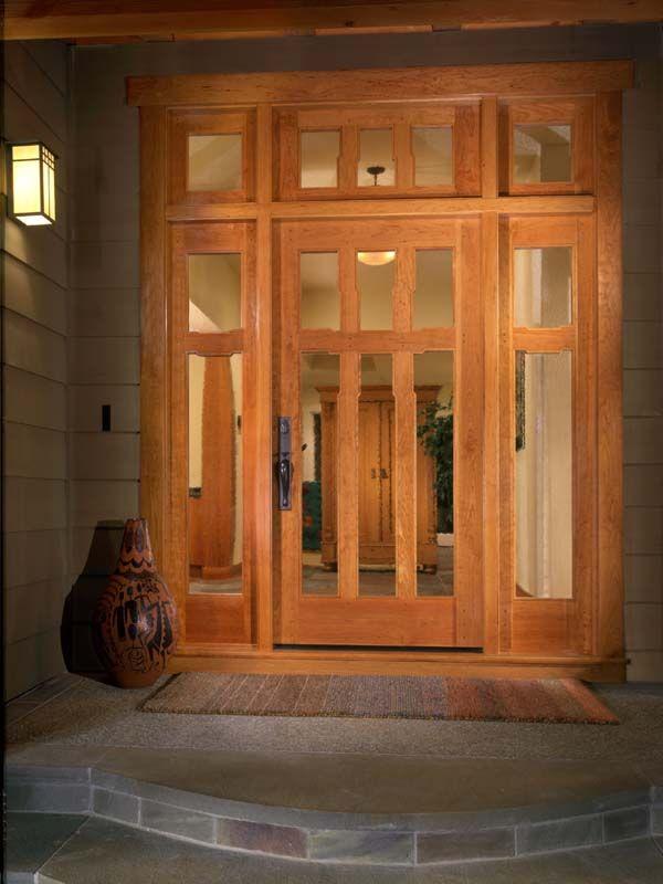 Arts and crafts door knob doors handcrafted custom for Arts and crafts exterior door hardware