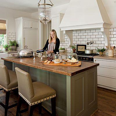 Annie Sloan Painted Kitchen Worktop