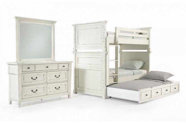 Julia Youth Bunk Bed Set With Trundle | Kids Bunk Beds | Kids Furniture | Bob's Discount Furniture