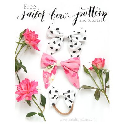 See Jane Scrapbook: DIY Sailor Bow Tutorial and Free Pattern