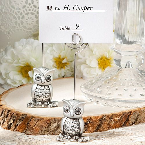 Owl Bet You Will Love These Place Card Holders Little Owl Place Card Holder Favors Weddings