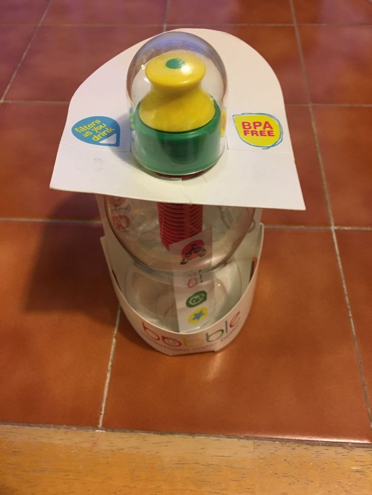 Kids Bobble Green Band Filtered Water Bottle  13oz  New