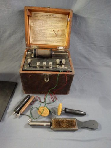 "This is a Great piece of Victorian era Quack Medicine in the Form of a Portable Electro-Shock Therapy Device. This ""Battery"" comes complete with everything you need to Shock yourself back to Health. Pieces like this were very popular."