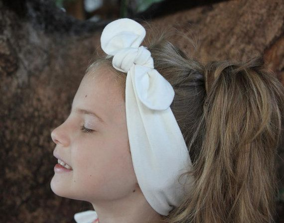Baby Headband ivory Sally baby headwrap baby by ElleBelleBliss $11.50 AUD