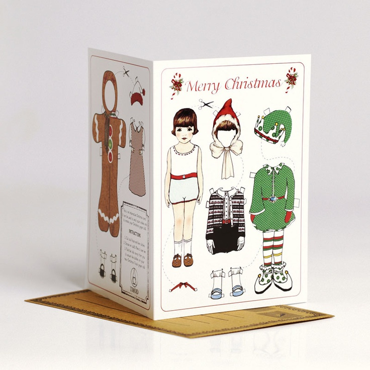 Rosie Christmas Paper Doll Card
