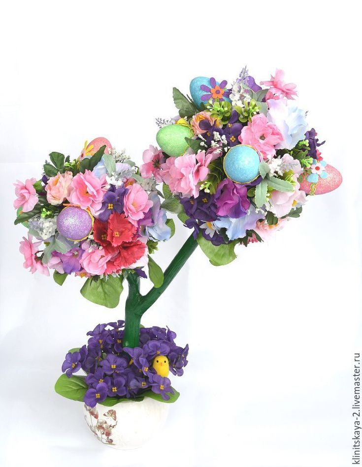 Купить Пасхальный топиарий, топиарий к Пасхе, подарок на Пасху. - топиарий, топиарий дерево счастья