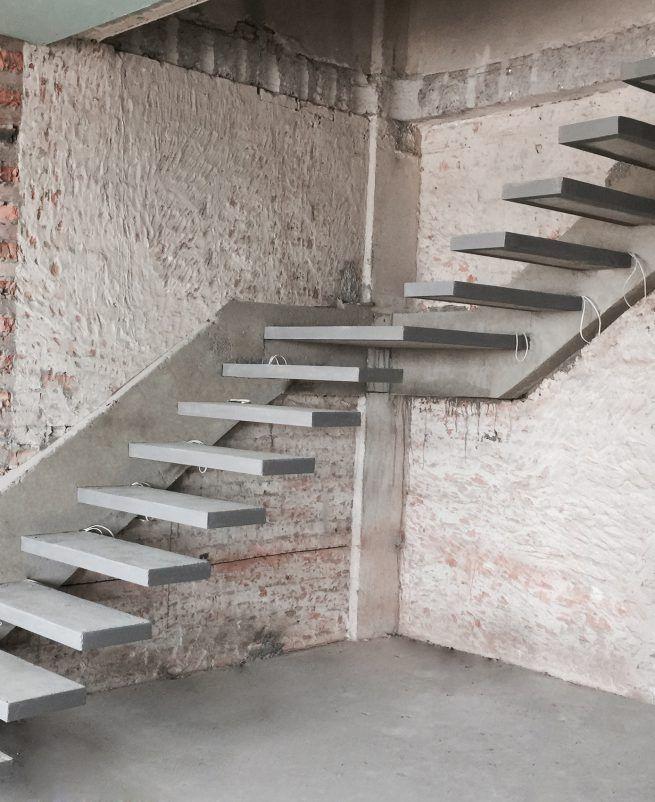 вид лестниц из бетона