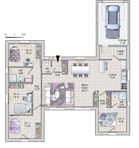 Découvrez les plans de cette une maison en phase avec son époque sur www.construiresamaison.com >>>