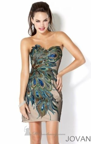 Peacock cocktail dress!