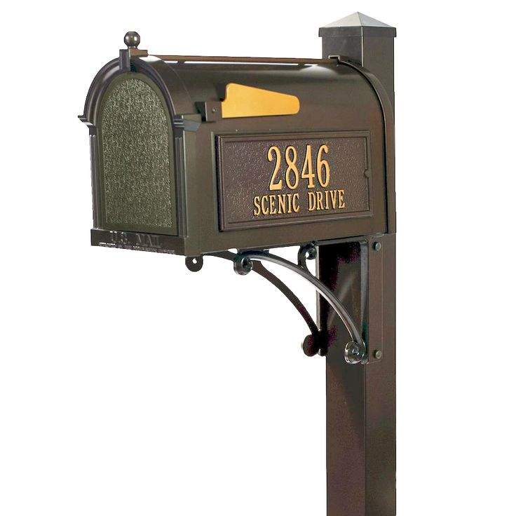 Whitehall Superior Mailbox Package in Bronze (also available in black) $424