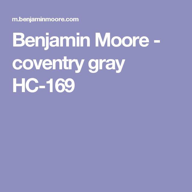 Benjamin Moore - coventry gray HC-169