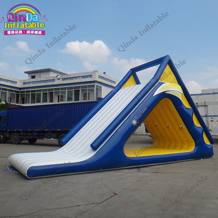 Costoms Color Summer Seaside / Lake Climbing Wall Rock Climbing Holds Toys Pool Inflatable Water Park Slides