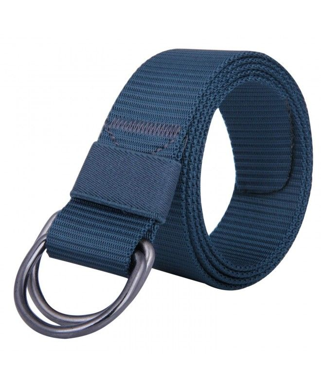 Canvas Web Belts For Men Women Military Style Double D Ring Buckle