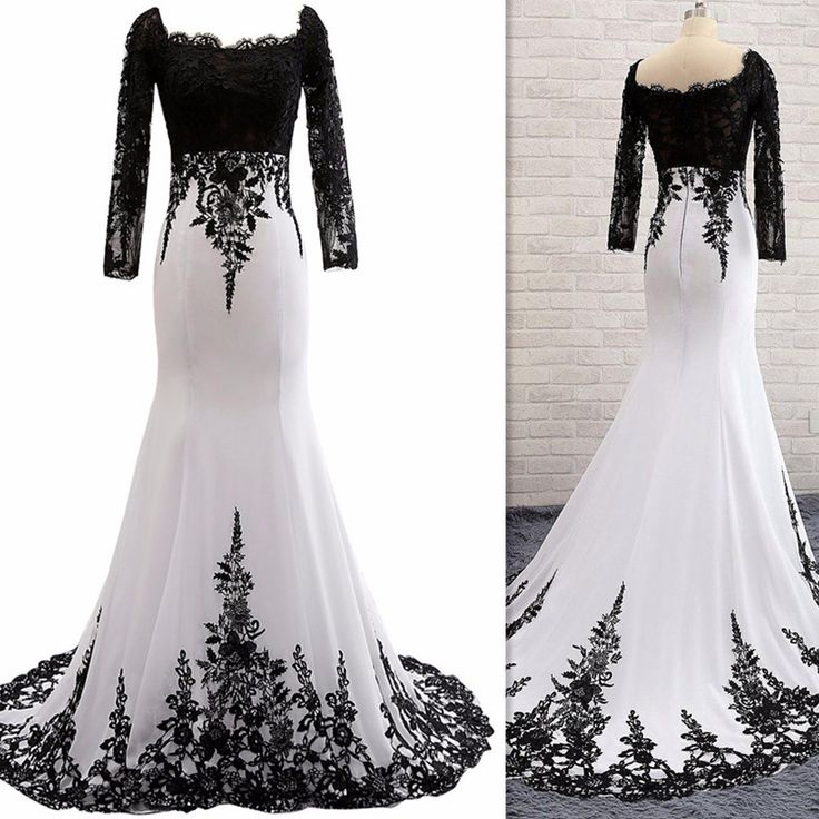 Sexy Full Sleeve Evening Gowns ,Mermaid Lace Prom