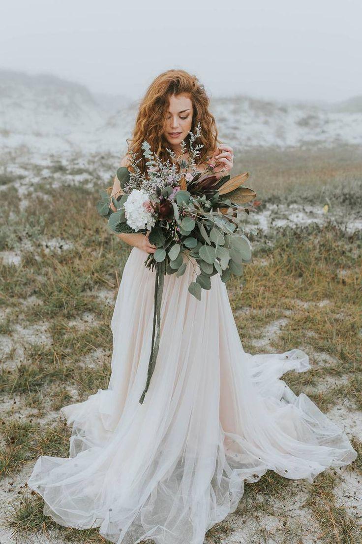 Mystical bridal photos in the Florida sea fog via Magnolia Rouge