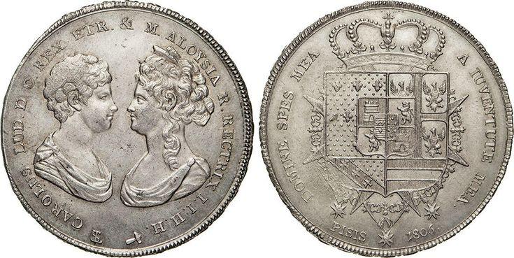 NumisBids: Numismatica Varesi s.a.s. Auction 65, Lot 321 : FIRENZE - CARLO LUDOVICO DI BORBONE, reggenza della madre Maria Luisa...