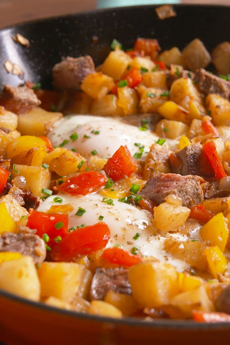 We just shut down the brunch game. The best steak and eggs hash!