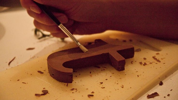 letras de chocolate Chocography