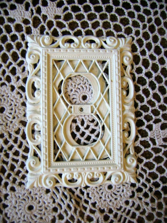 plug in cover wall outlet cover shabby painted cottage on wall outlet id=22594