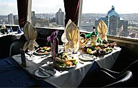 Enjoy a meal at the legendry revolving restaurant.