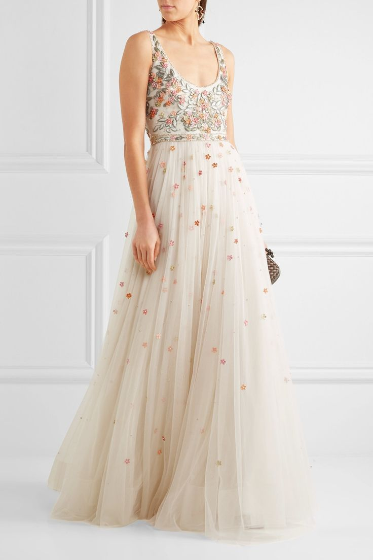 Jenny Packham | Embroidered tulle gown | NET-A-PORTER.COM