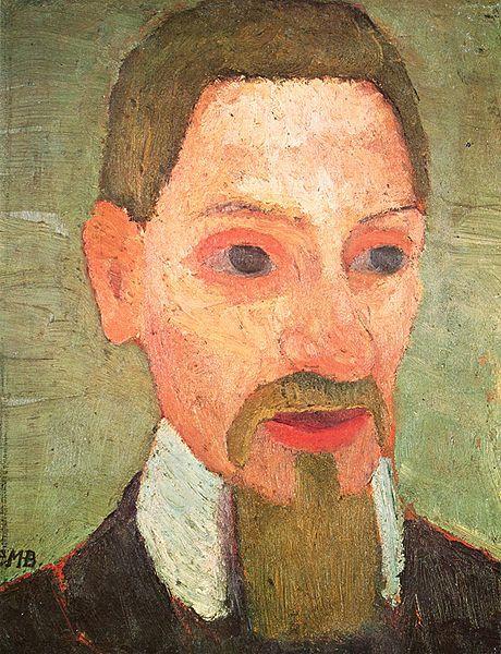 Nieukończony portret Rilkego pędzla Pauli Modersohn-Becker, 1906