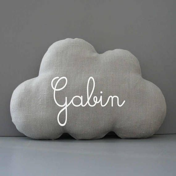 cloud pillow personalized with one name nursery decor. Black Bedroom Furniture Sets. Home Design Ideas