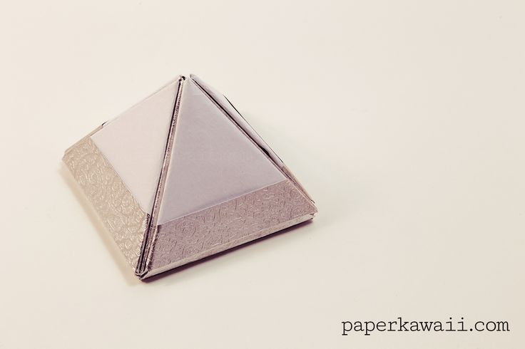 how to make a 4 sided pyramid out of paper