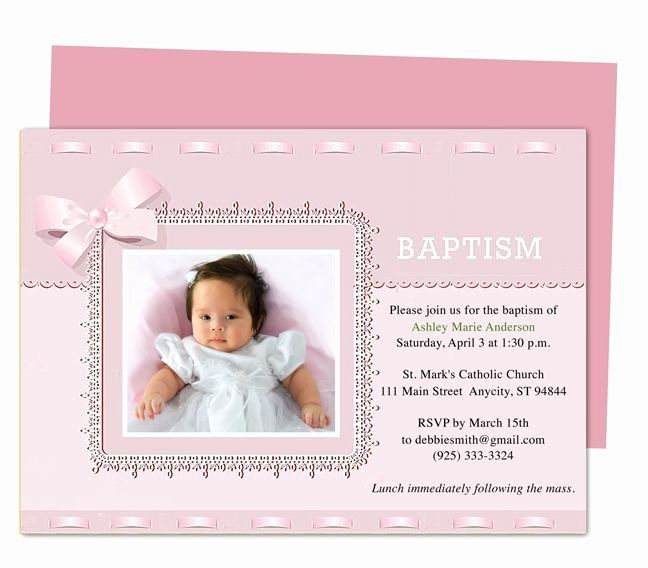 Free Baptism Invitation Templates Luxury Baptism Invitation Template Microsoft Word Templ Christening Invitations Girl Invitation Layout Dedication Invitations