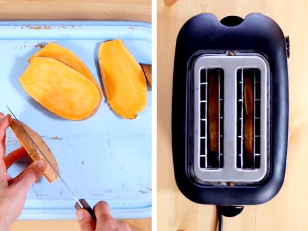 Mega Idee! So leicht kannst du Süßkartoffeln im Toaster garen und dir so ein…