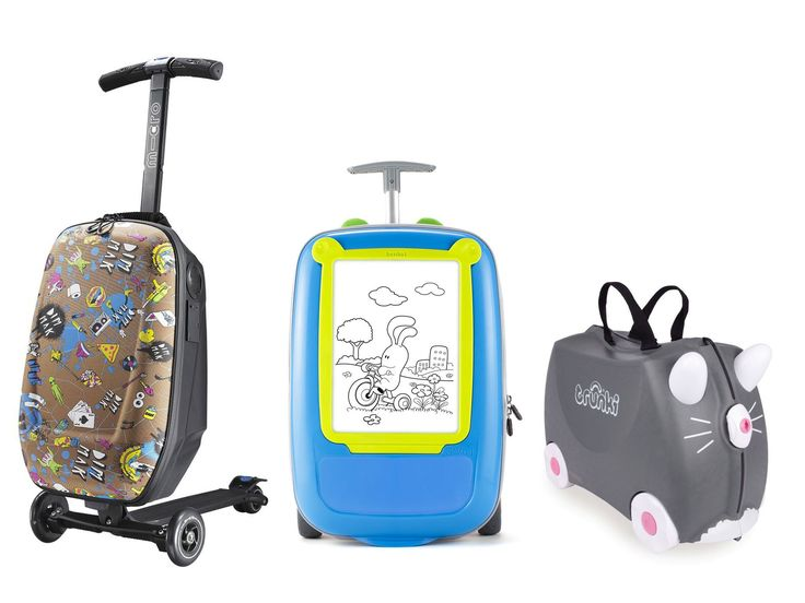 10 best children's luggage... My son would LOVE the Micro 3in1 Luggage Scooter