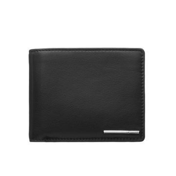 Black Leather Wallet {Product title} from Links of London | Christening and Wedding Gifts #LinksXmasWishlist