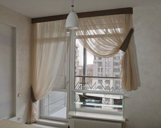 Оформление окна с балконной дверью: на кухне и в зале | Балконы для всех!