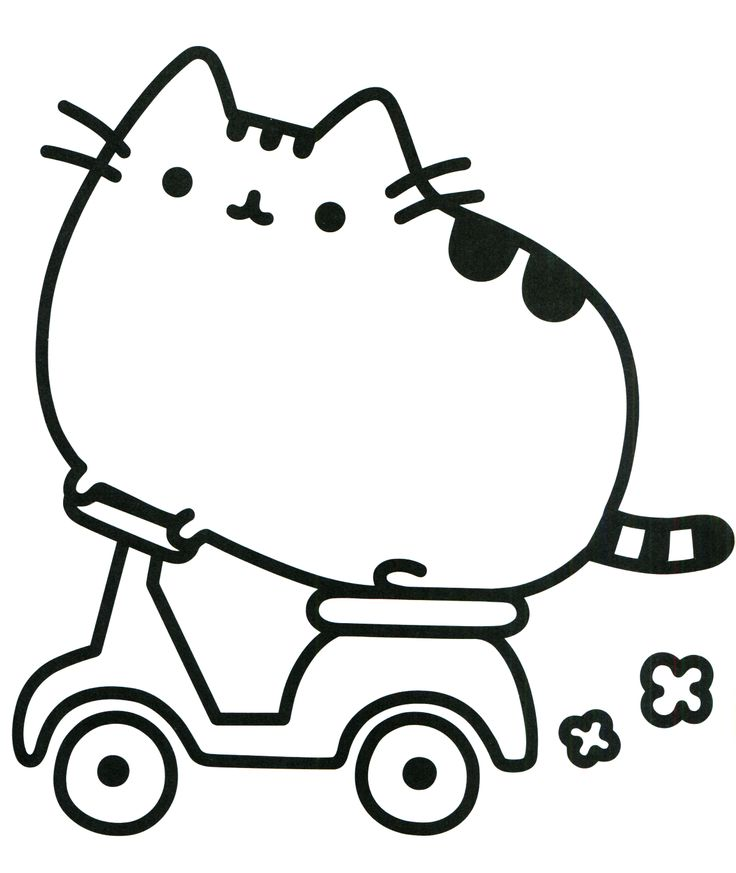 94 best Pusheen Coloring Book images on Pinterest  Coloring books