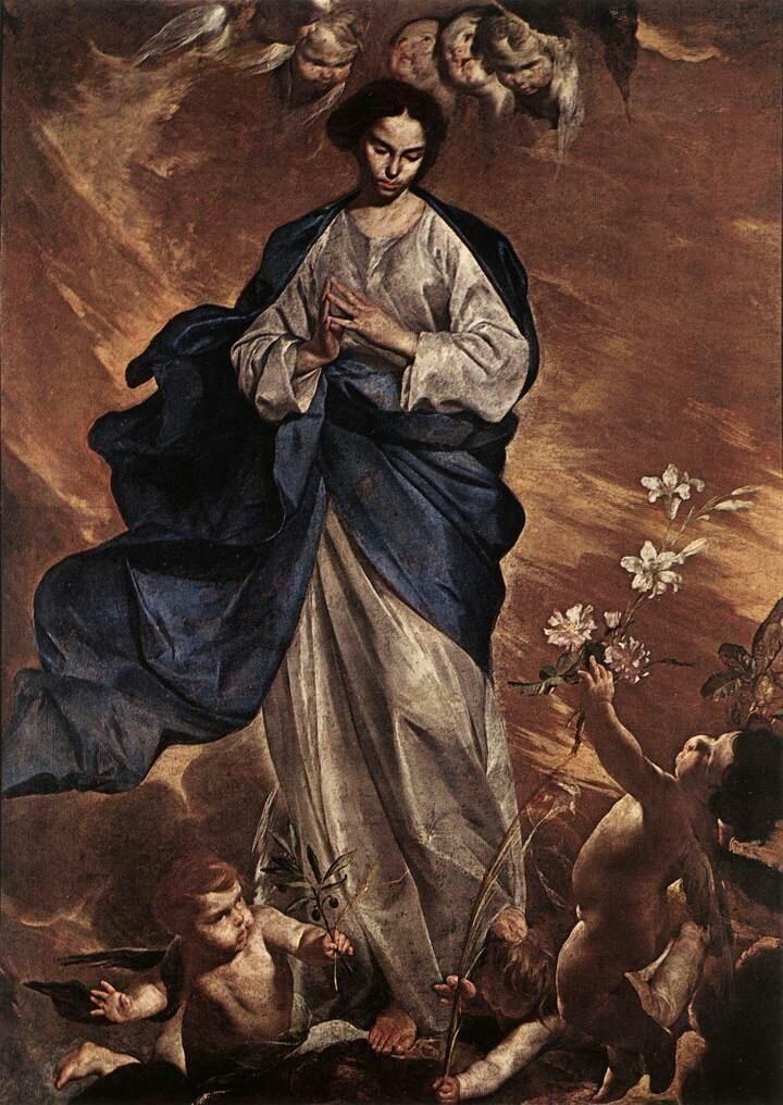 Bernardo Cavallino「The Blessed Virgin」