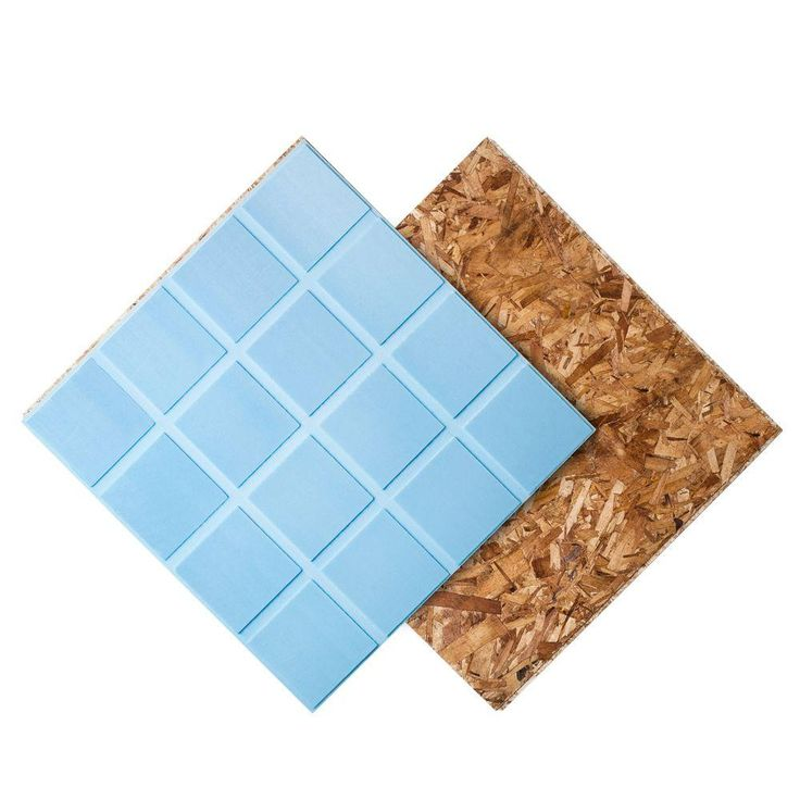 Dricore r insulated subfloor panel 1 in x 2 ft x 2 ft