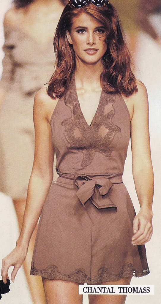 Angie Everhart for- Chantal Thomass S/S 1992 Vogue