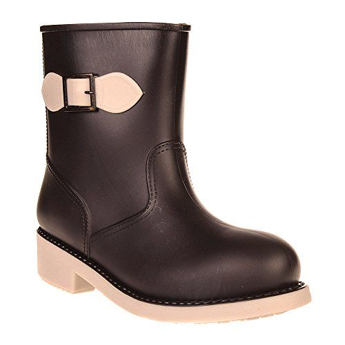 Blue Banana Womens Brown White Bow Short Wellies  5 UK  75 BM US >>> Continue to the product at the image link.