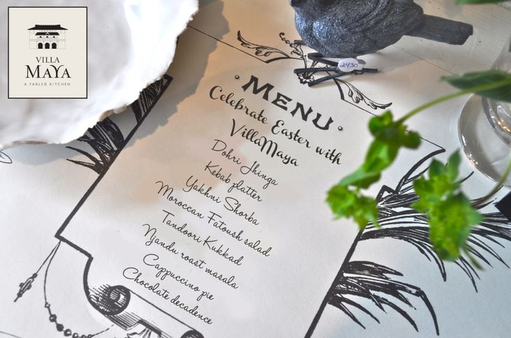 And the Easter menu is out! :) Celebrate #Easter with Villa Maya TVM.