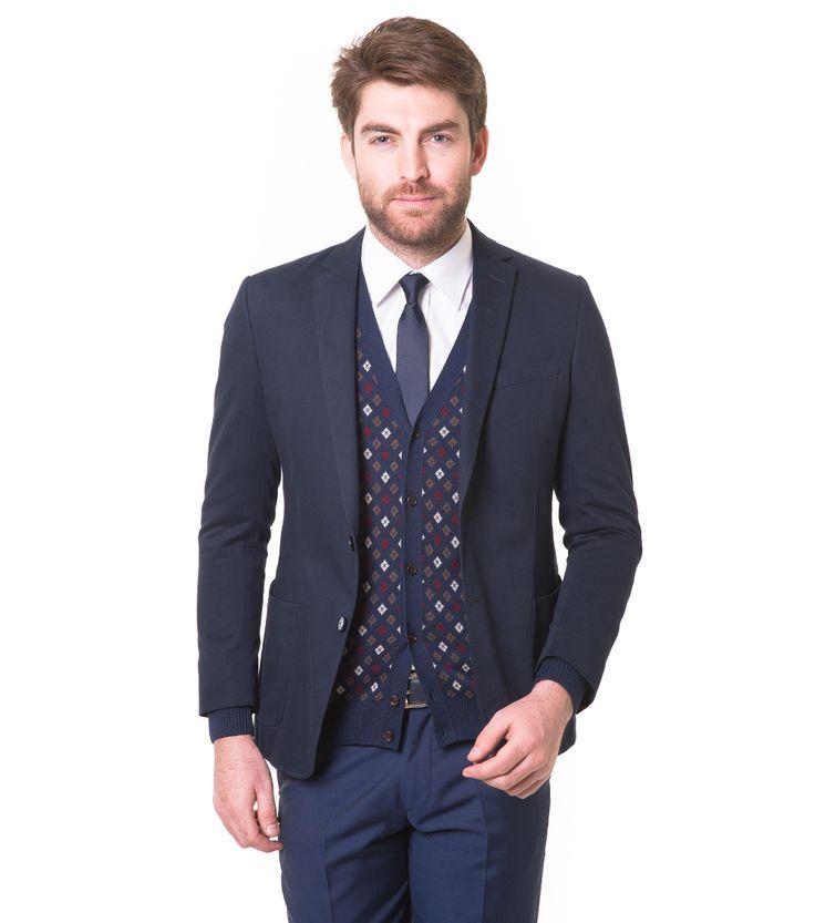 Karaca Erkek Slim Fit 6 Drop Ceket - A. Lacivert #mensfashion #jacket #ceket #karaca #ciftgeyikkaraca www.karaca.com.tr