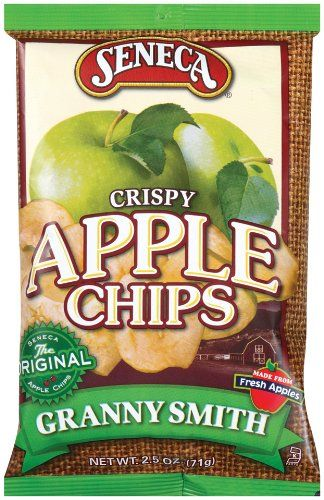 Seneca Granny Smith Apple Chips,2.5-Ounce Bags (Pack of 12) Sweet crunchy snack. 30 % less fat than regular salty snacks.  Best apple chips by far!!